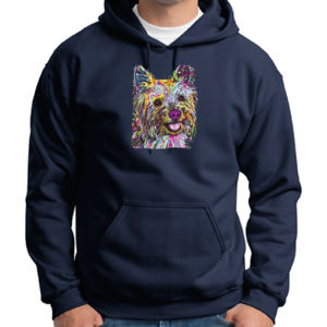 Colorful Yorkie - Adult 50/50 Blend Hoodie Thumbnail