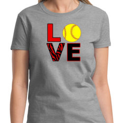 Love Softball Ladies T Thumbnail
