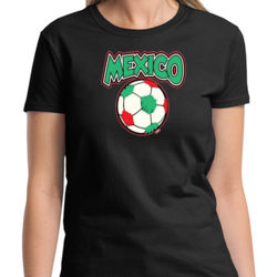 Mexico Soccer Ladies T Thumbnail
