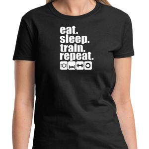 Train & Repeat Ladies T Thumbnail
