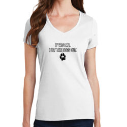 Let the Dogs Out - Ladies Fan Favorite V Neck Thumbnail