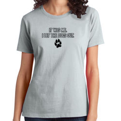 Let the Dogs Out - Ladies Ring Spun T Thumbnail