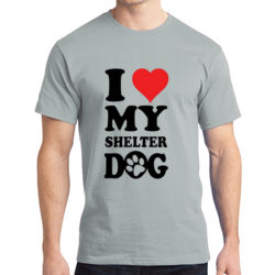Love Shelter Dogs - Adult Soft Cotton T Thumbnail