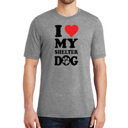 Love Shelter Dogs - Adult Soft Tri-Blend T Thumbnail