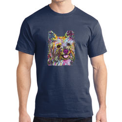 Colorful Yorkie - Adult Soft Cotton T Thumbnail