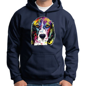 Colorful Beagle - Adult 50/50 Blend Hoodie Thumbnail