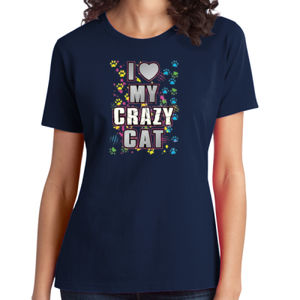 My Crazy Cat - Ladies Soft Cotton T Thumbnail