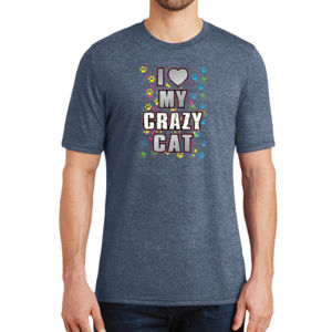 My Crazy Cat - Adult Soft Tri-Blend T Thumbnail