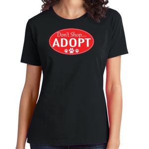 Adopt!  - Ladies Soft Cotton T Thumbnail