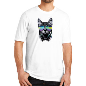 DJ Cat - Adult Soft Tri-Blend T Thumbnail