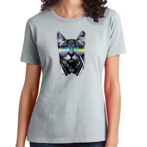 DJ Cat - Ladies Soft Cotton T Thumbnail