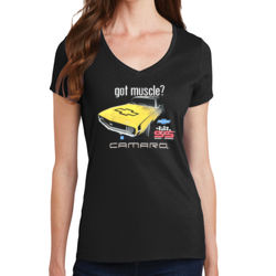 Camaro - Ladies V-Neck T Thumbnail