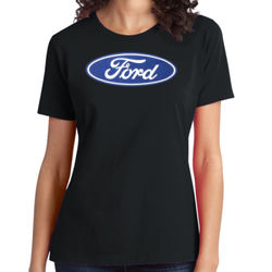 Ford Logo - Ladies Soft Cotton T Thumbnail