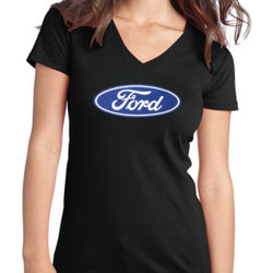 Ford Logo - Juniors V-Neck T Thumbnail