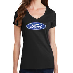 Ford Logo - Ladies V-Neck T Thumbnail
