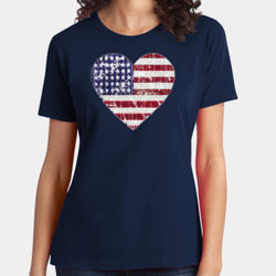 Love America - Ladies Soft Cotton T Thumbnail