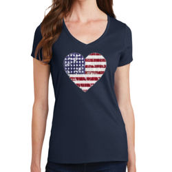 Love America - Ladies V-Neck T Thumbnail
