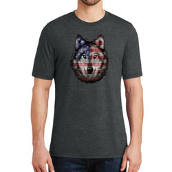 American Wolf - Adult Soft Tri-Blend T Thumbnail