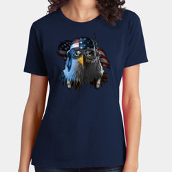 Patriotic Eagle - Ladies Soft Cotton T Thumbnail
