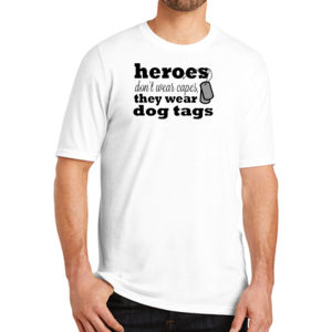 Heroes Wear Dog Tags - Adult Soft Tri-Blend T Thumbnail