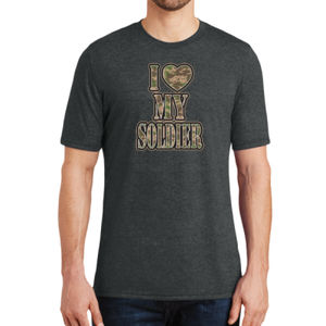 I Heart My Soldier  - Adult Soft Tri-Blend T Thumbnail