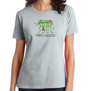 Toadily Wasted - Ladies Soft Cotton T Thumbnail