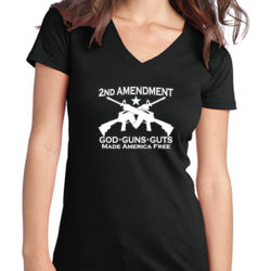 2nd Ammendment - Juniors V-Neck T Thumbnail