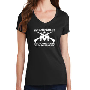 2nd Ammendment - Ladies V-Neck T Thumbnail