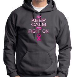 Keep Calm and Fight On - Adult 50/50 Blend Hoodie Thumbnail