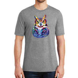Colorful Owl - Adult Soft Tri-Blend T Thumbnail